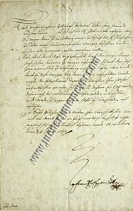 Franz Egon Count of Fürstenberg, Letter with autograph signature to the Elector of Treves (1673)