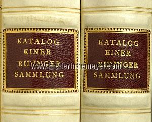 Rudolf Ritter von Gutmann, Catalogue of a Ridinger collection: Copy I/II (back-plates)