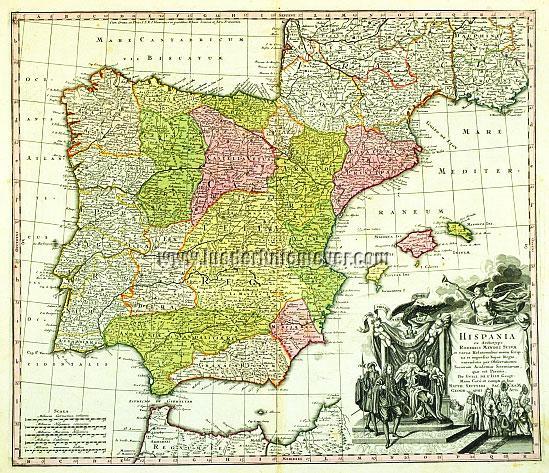 Seutter, Spain & Portugal