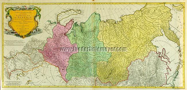 Matthäus Albrecht Lotter, Carte Géographique contenant le Royaume de Siberie