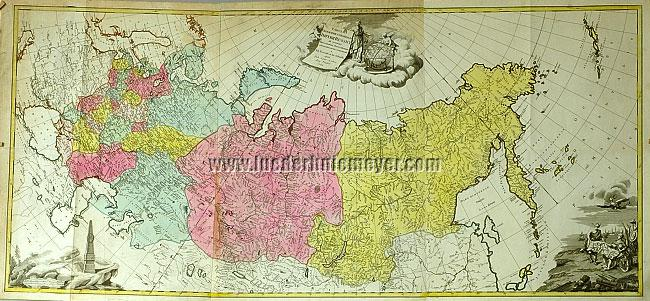 Ivan Fomic Treskot, General Map of Russia