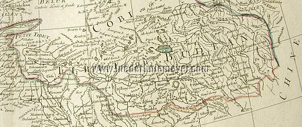 Tibet - Nepal - Bhutan / Detail from Carte de la Tartarie Independante
