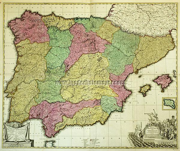 Gerard Valk, Wall Map of Spain of 1704