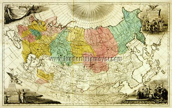 Kyrilov, 1st General Map of Russia