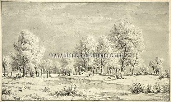 Carl Krüger, Winter Landscape
