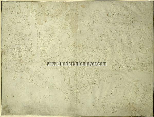 Löwenjagd (Pergament/Le Brun)