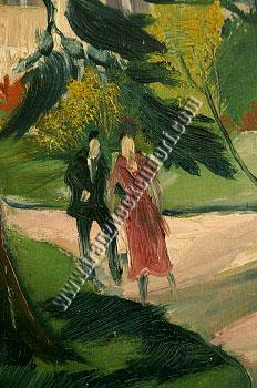 Franz Heckendorf, House in the Park (1921) / Faceless Couple