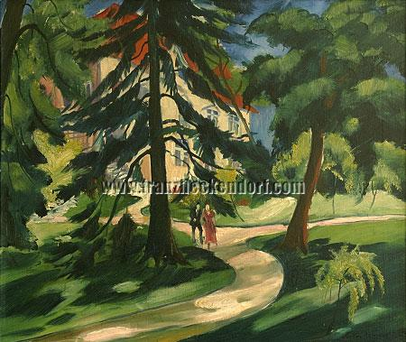 Franz Heckendorf, House in the Park with Couple