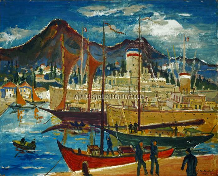 Franz Heckendorf, Mediterranean Harbor (Trieste)