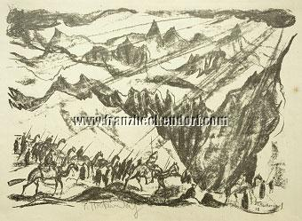 Franz Heckendorf, Camel Caravan in the Mountains