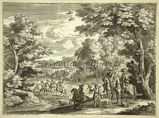 Bonnart, Falkenjagd Ludwig XIV.
