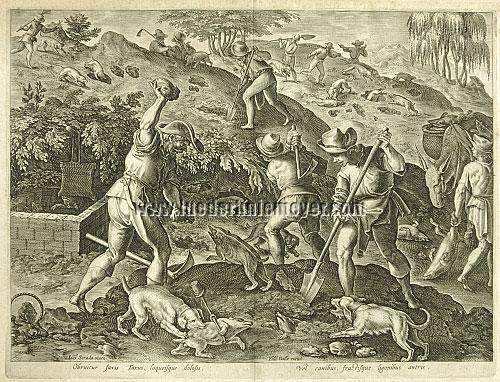 Johannes Stradanus, Badger Hunting