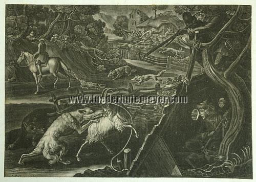 Ernst Philipp Thoman von Hagelstein, Wolfsjagd
