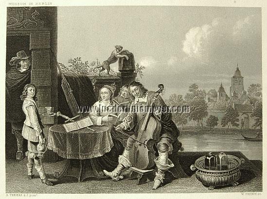David Teniers II, Teniers mit seiner Familie