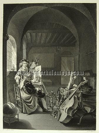 Frans van Mieris, Frans van Mieris receiving a Visitor in his Studio