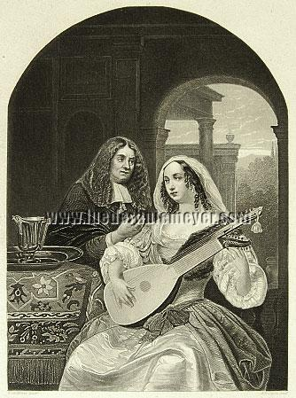Frans van Mieris, Lautenspielerin