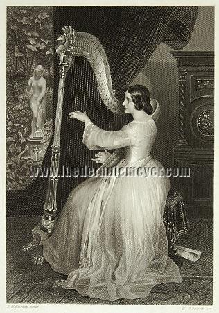 Frederick William Burton, Liebesklänge (Harfe)