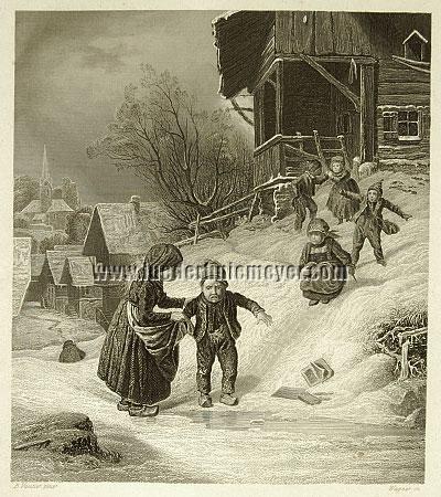 Benjamin Vautier, Des Winters Freuden & Leiden