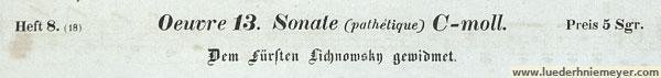 Ludwig van Beethoven, Sonate c-moll (Pathetique)