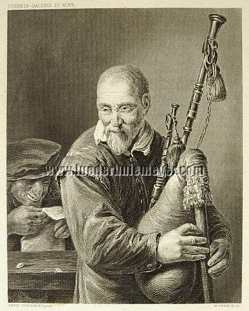 David Teniers II, Bagpiper