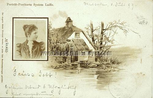 Johann Laifle, Portrait postcard (Auguste Kapper/Rheinzabern)