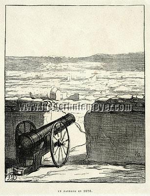 Honoré Daumier, Un Paysage en 1870