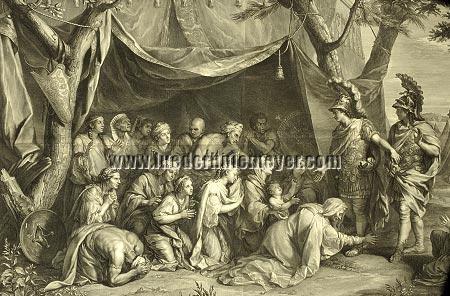 Charles Le Brun/Gerard Edelinck, Die Familie des Dareios vor Alexander (Ausschnitt)