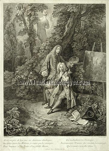 Watteau - Nicolas-Henri Tardieu, Assis au près de toy