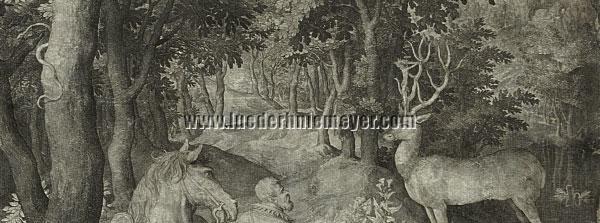 Nicolaes Bruyn, St. Hubertus (Ausschitt)