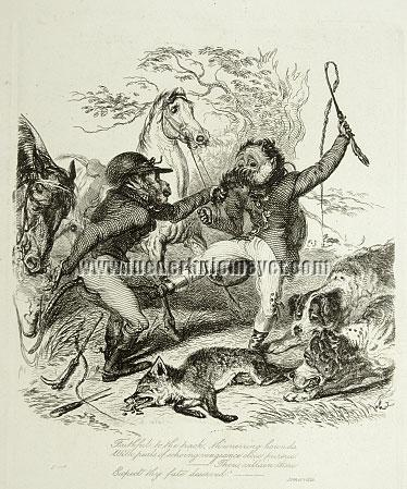 Thomas Landseer, Brawl about the Fox