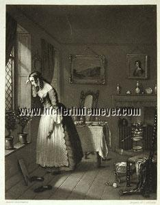 John Sartain, Amelia awaiting the Return of her Husband