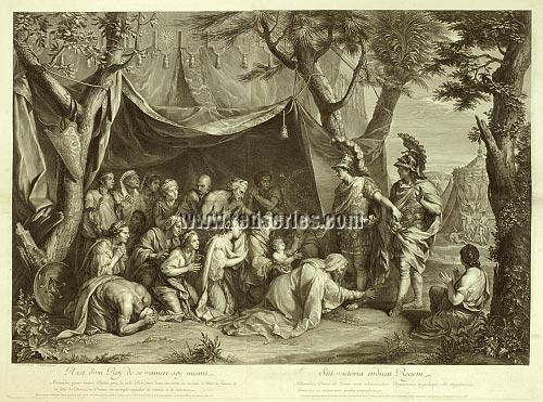 Charles Le Brun, The Triumphs of Alexander, here In the Tent of Darius