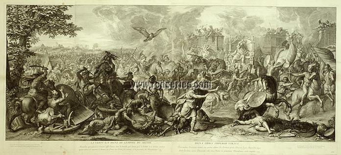 Charles Le Brun, The Triumphs Alexander: Battle of Arbella