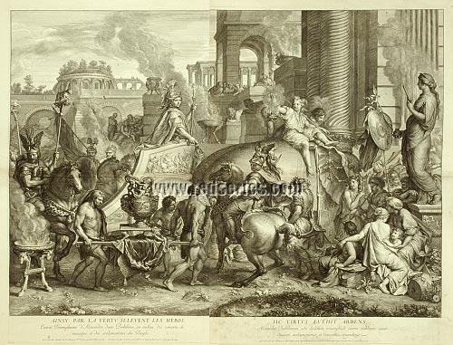 Charles Le Brun, The Triumphs of Alexander, Entry into Babylon