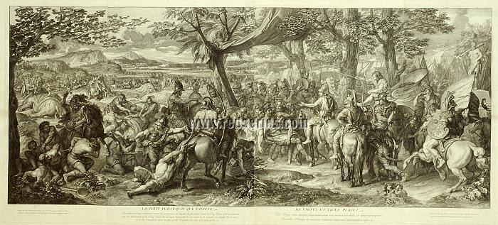 Charles Le Brun, The Triumphs of Alexander, here Alexander + Porus
