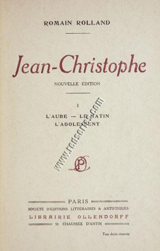 Rolland, Jean-Christophe / Cover