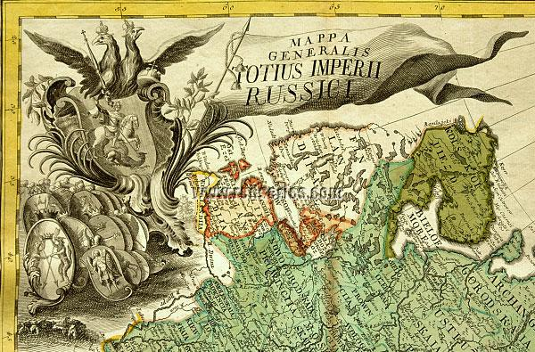 Atlas Russicus: General Map (Cartouche)