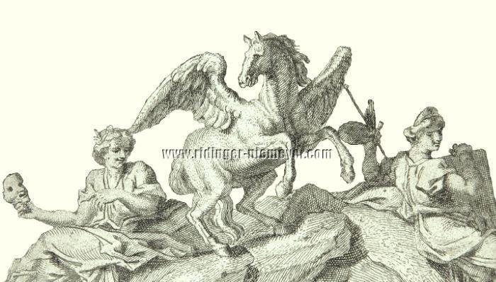Johann Elias Ridinger, Hippokrene (Ausschnitt)
