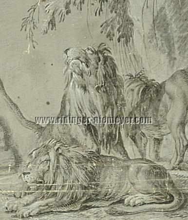 Johann Elias Ridinger, Lions