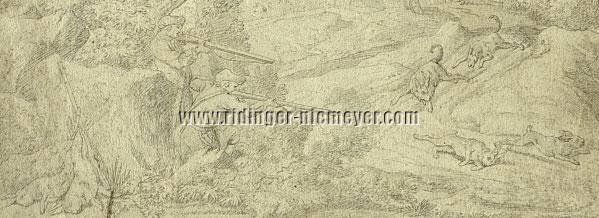 Johann Elias Ridinger, Anstand auf Hasen