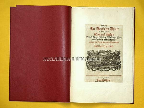 Johann Elias Ridinger, Titel (Th. 162)