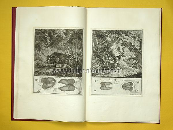 Johann Elias Ridinger, Traces of Boar + Fallow Deer (Th. 168 + 169)