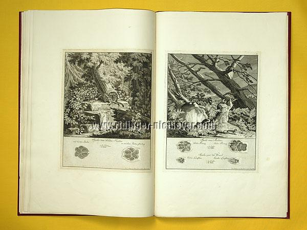 Johann Elias Ridinger, Traces of Wild He-cat + Pine Marten & Weasel (Th. 180 + 181)