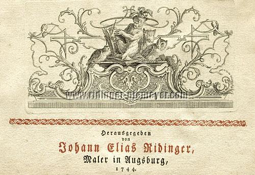 Johann Elis Ridinger, Painter in Augsburg, 1744