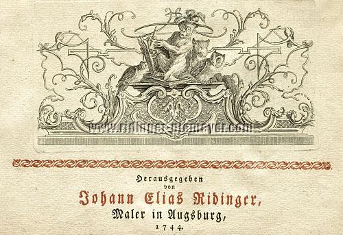 Johann Elis Ridinger, Maler in Augsburg, 1744