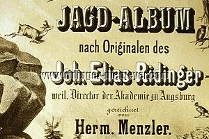Hermann Menzler, Jagd-Album (Detail)