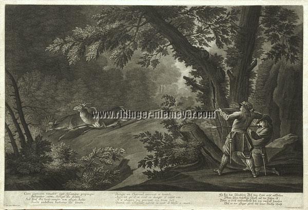 Johann Elias Ridinger, Das schüchterne Reh