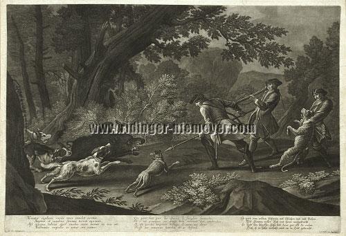 Johann Elias Ridinger. Hunting the Wild Boar