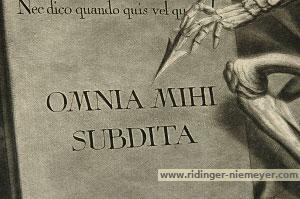 Johann Elias Ridinger, Omnia Mihi Subdita (Schwarz 1427)