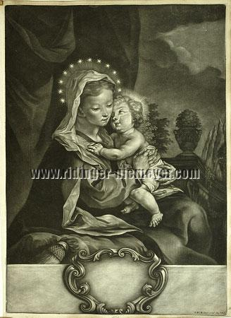 Johann Elias Ridinger, Maria mit dem Kinde